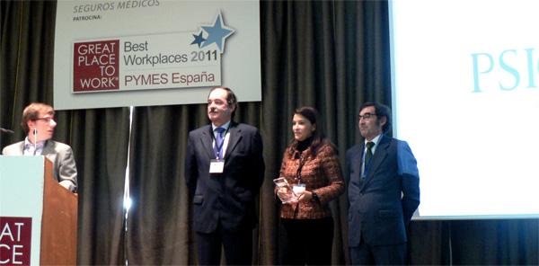 Great Place to Work®: Psicosoft una de las mejores PYMES para trabajar del 2011